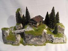 Diorama Jagdhütte H0 Modell Bergweltserie Top patiniert