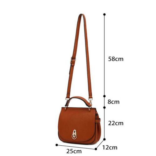 Designer Inspired Faux Leather Cross Body saddle bag Various colours