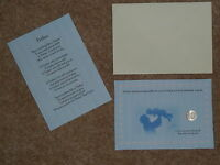 FATHERS DAY/BIRTHDAY LUCKY SIXPENCE & POEM IDEAL KEEPSAKE