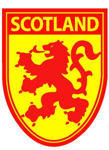 Scotland St Andrews Saltire on Lion Rampant Flag Vinyl Car Window Sticker