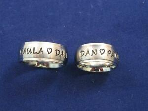 2-Stainless-Steel-8mm-Personalized-Couples-Name-Ring-Bands-Wedding-Anniversary
