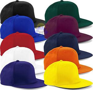 Cappellino-BEECHFIELD-B610-Cappello-RAP-Snapback-Rapper-VISIERA-PIATTA-Cap-HAT