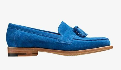Women's Bespoke Handmade Genuine Suede Formal Straps Slip Ons Tassles shoes