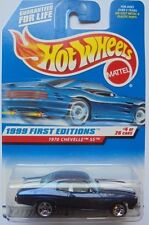 1999 Hot Wheels First Edition '70 Chevelle SS 4/26 (Blue)(with Hood Pinstripes)