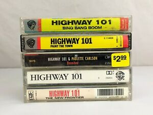 Lot of 5 Highway 101 Cassette Tapes ~ Bing Bang Boom, Paint The Town, Reunited
