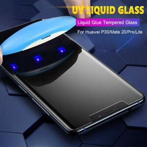 Liquid-UV-Full-Glue-Glass-Screen-Protector-For-Huawei-Mate-20-Pro-P20-P30-Lite