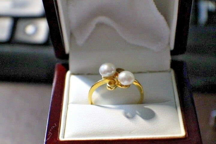 4e657caee0ad6 Two gold Yellow kt 14 Ladies Pearls Ring Gemstone Designer ...