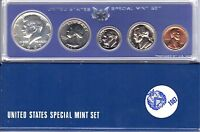 1967 1C-50C Special Mint Set SMS Us Mint Silver 40% Kennedy Half Dollar 5 Coins