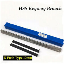 10mm D Push Type Keyway Broach Metric Size Cnc Metalworking Cutter Cutting Tool