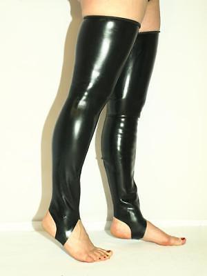 Latex 100/% Unisex black schwarz Strümpfe stockings Bolingier Poland Dicke 0,6mm