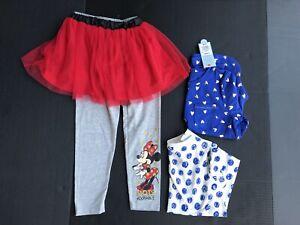 Girls-Clothes-Size-S-6-6x-Bundle-Of-4pcs-W-Minnie-Mouse-Pants-NEW-AH126