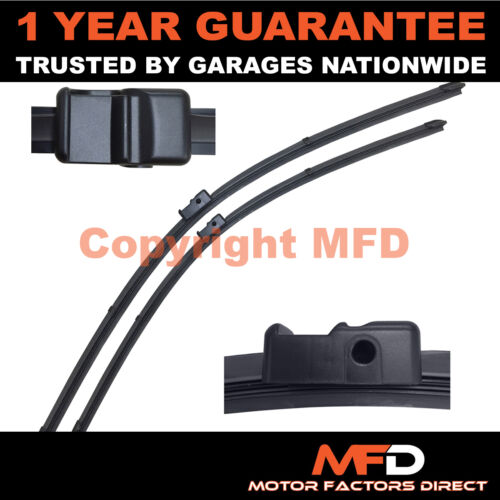 """FOR BMW 1 SERIES E81 2007 DIRECT FIT FRONT AERO WINDOW WIPER BLADES 20/"""" 20/"""""""