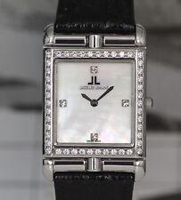 Jacques Lemans Wendeuhr Armbanduhr Edelstahl Swarovski 1-802T UVP 740,00 Euro