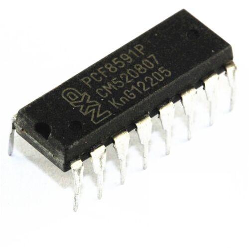 5PCS PCF8591 PCF8591P PHILIPS DIP-16 IC 8-bit A//D and D//A converter NEW QUALITY