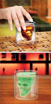 Skull Head Shot Drinking Beer Wine Glass Cup Bar Creative Vodka Whiskey Mug Cup