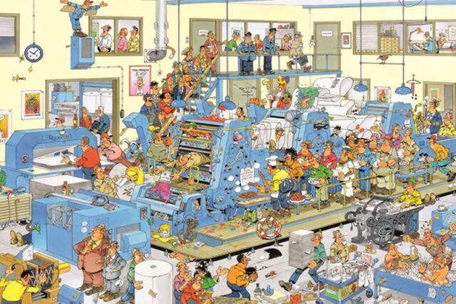 Jumbo 19039 Jan van Haasteren Der Drucker 1500 Teile Puzzle