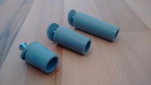 10  x Rolladen Stopper Anschlagstopfen grau 28 - 40 - 60 mm Anschläge Rollladen