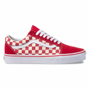red checkerboard vans laces