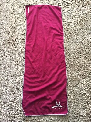 Mission Athletecare Enduracool Instant Cooling Towel in Pink