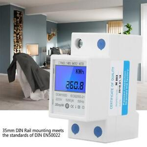 DDM15SD-5-80A-230V-LCD-Digital-Single-Phase-Energy-Watt-KWh-Meter-DIN-Rail-Mount