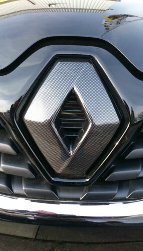 CARBON FIBRE EFFECT BADGE EMBLEM COVER *OFFER* Renault Kadjar 2015