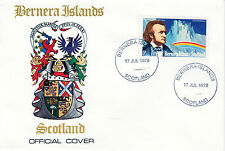 GB Locals - Bernera 3781 - 1978 COMPOSERS - WAGNER 5p perf on First Day Cover