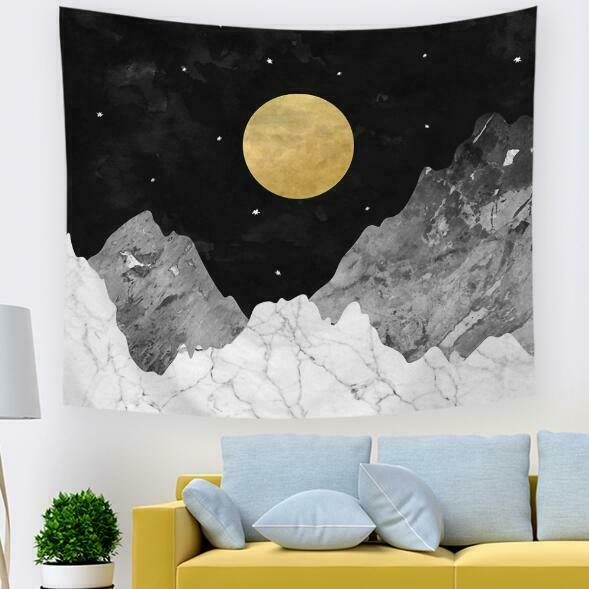 3D Gelb Moon A260 Tapestry Hanging Cloth Hang Wallpaper Mural Photo Zoe