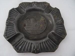 Zinn-Aschenbecher-Souvenir-Andenken-Nuernberg-Henkersteg-um-1900-Spritzguss