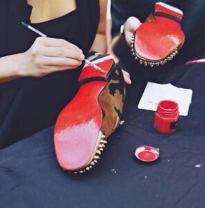 5a3df04c2b77 La foto se está cargando Suelas-de-pintura-roja-para-Louboutin -Rojo-Pantalones-