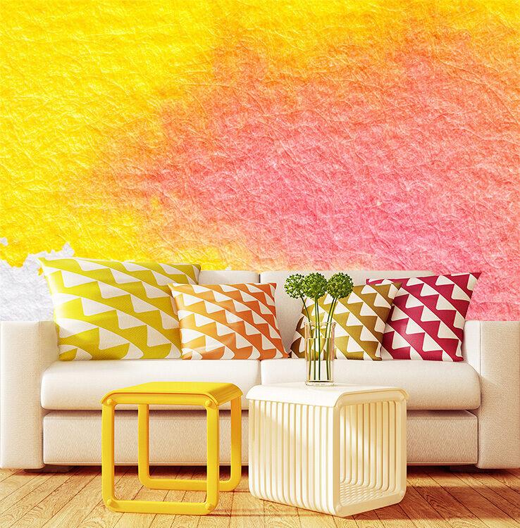 3D Helles yellow, pink 277 Fototapeten Wandbild Bild Tapete Familie Kinder