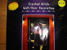 Crashed Witch Door/Wall Crashing Yard Halloween decoration decor NEW