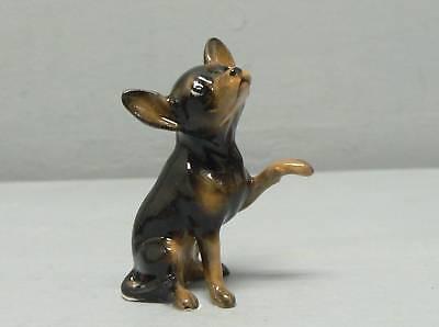 Hagen Renaker Black Chihuahua W// Paw Up