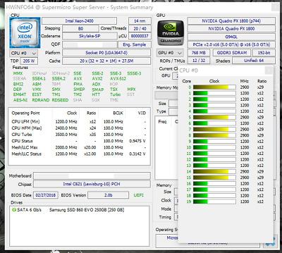 Intel Xeon Gold 6138 ES QL1L 1.8GHz 27.5MB 20Core 14nm 135W 40Threads LGA3647