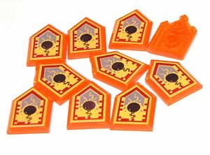 Lego-10-New-Trans-Neon-Orange-Tiles-2-x-3-Nexo-Power-Shield-Ground-Pound