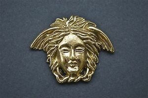 Art Nouveau angels head solid brass furniture mount ormalu H3