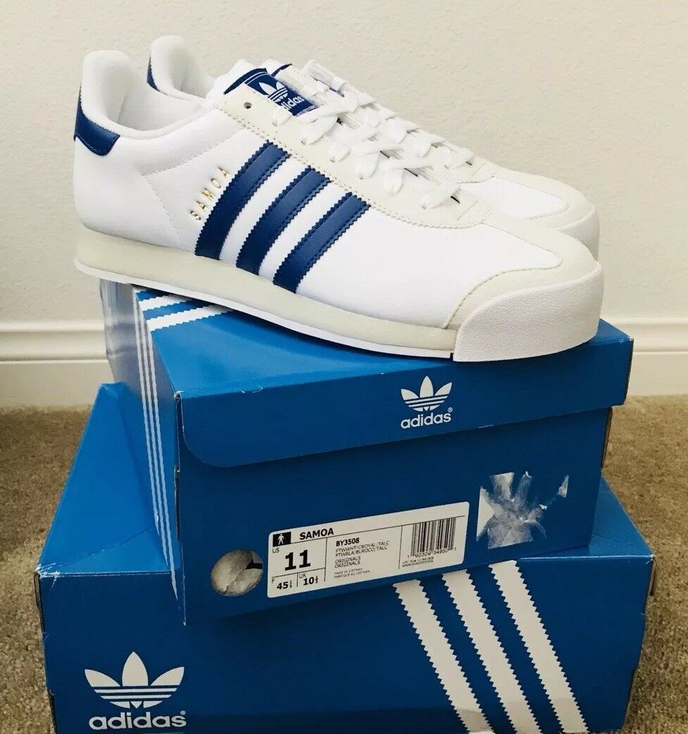 Adidas - weiß - blau by3508 retro - turnschuhe größe 11.