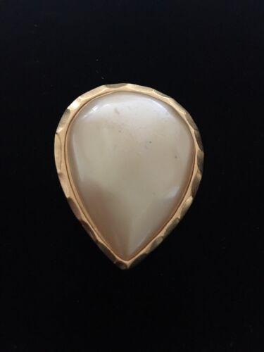 Yves Saint Laurent Vintage Faux Pearl Brooch