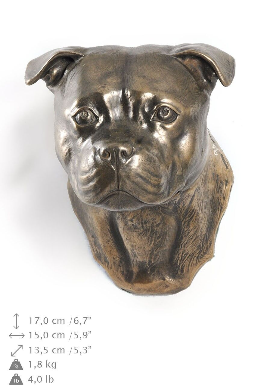 Staffordshire Terrier - dog figurine to hang on the wall, high quality, Art Dog