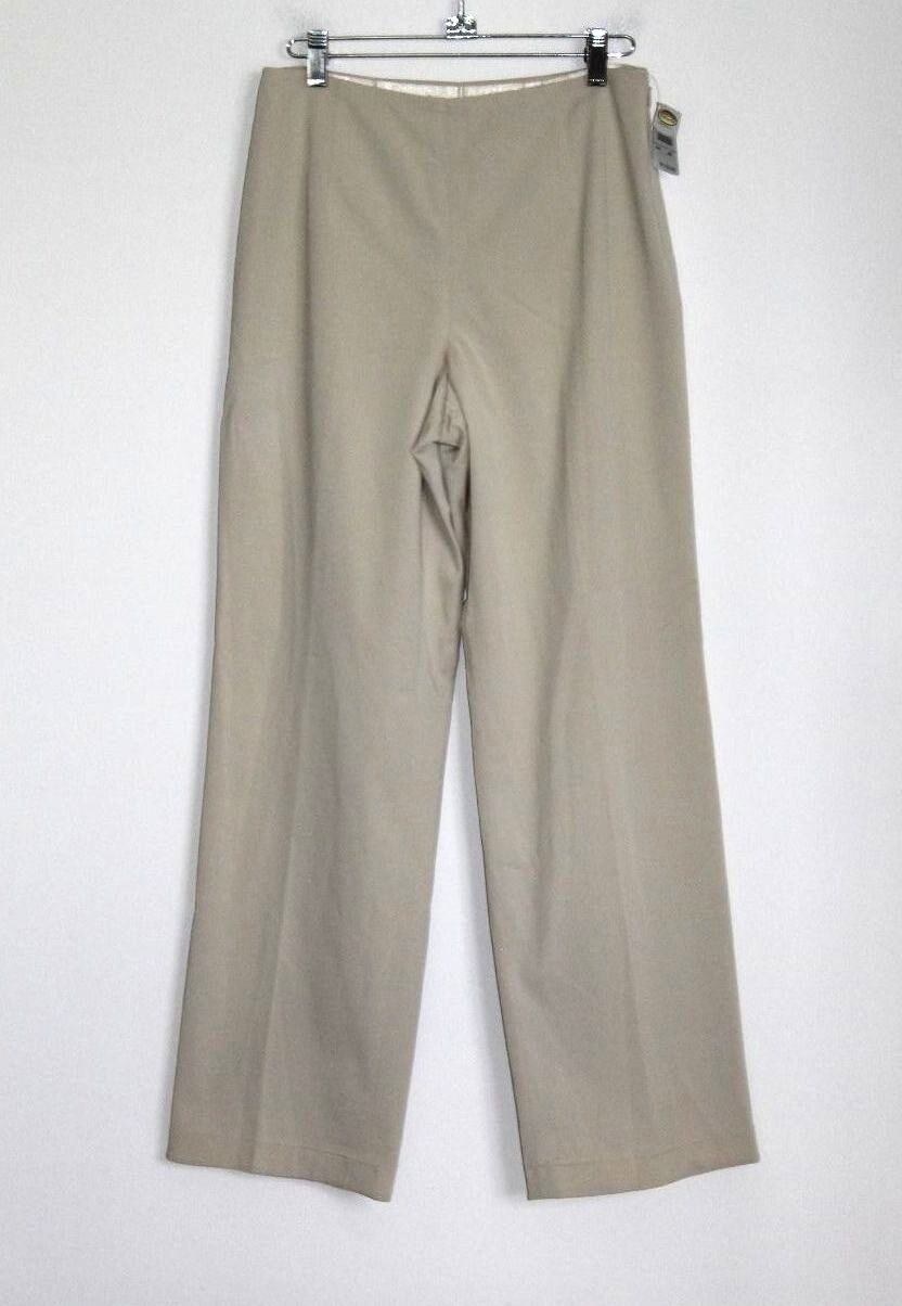 Talbots - 6P (PS) - NWT  118 - Solid Khaki Ivory - Cotton Blend Tapered Pants