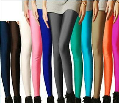 New Solid Leggings Full Footless Length Seamless Stretch Stockings Long Pants