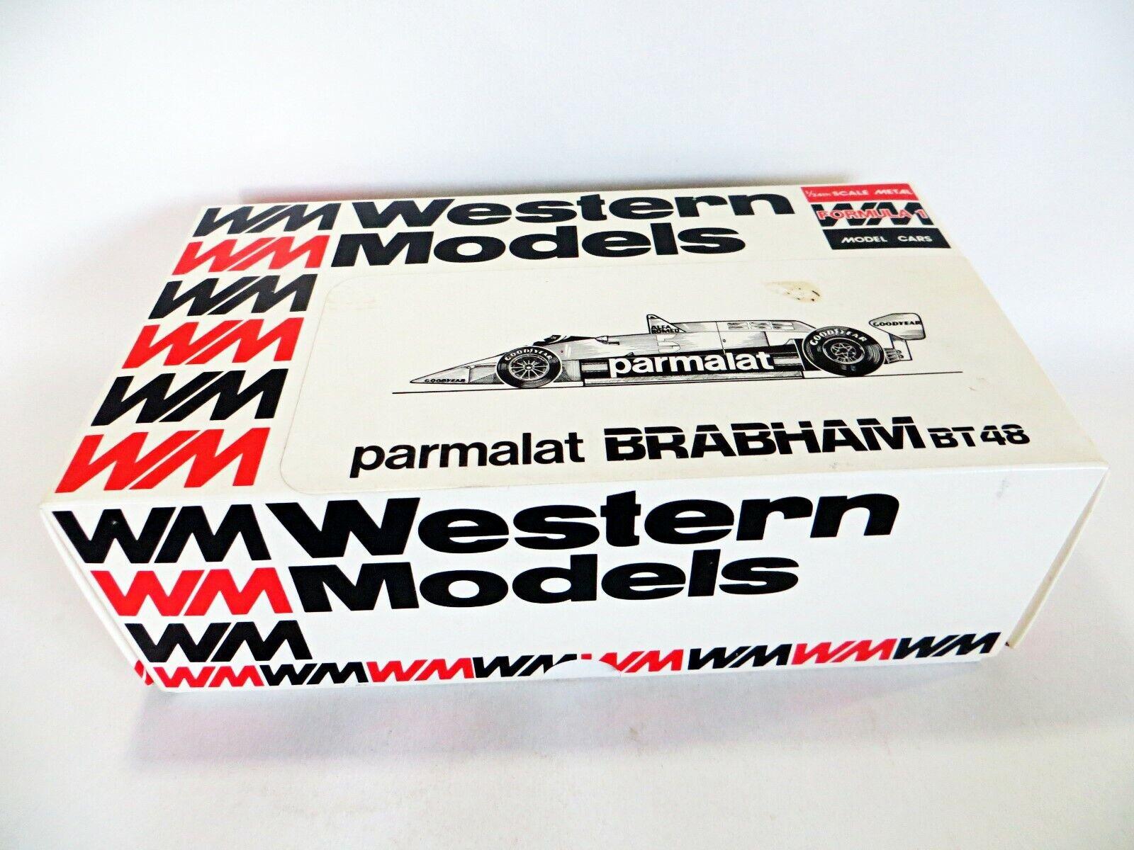 Western modellos 1 24' 1979 Parmalat Brabham BT48 F1 AUTO RARO modelloLO KIT.