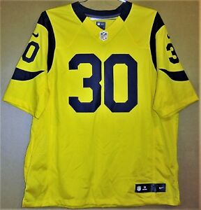 purchase cheap 0888f 1cff9 Details about ST. LOUIS RAMS TODD GURLEY #30 GOLD NFL Nike Size XXL JERSEY