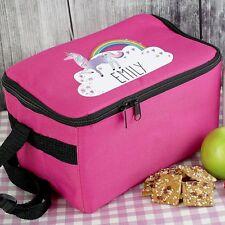 Personalizado Unicornio Rosa Bolsa De Almuerzo para niñas escuela Cena Refrigerios