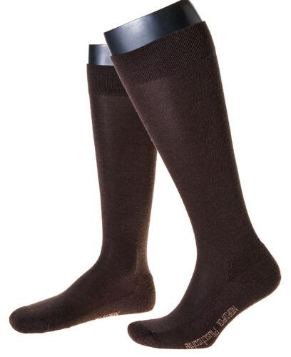 aus Wolle 1Paar Herrenkniestrümpfe mit Plüschsohle Made in Germany uni