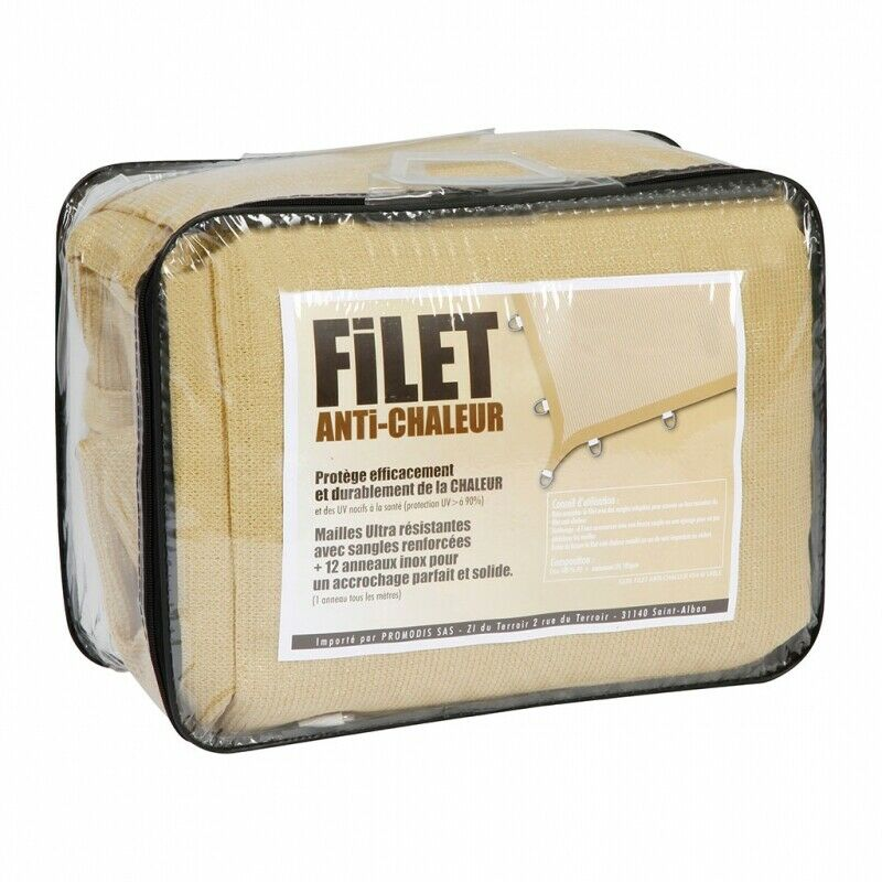 FILET ANTI CHALEUR ARES  Filet anti chaleur 4x4 m SABLE RCA-SANGARIS-BARKHANE