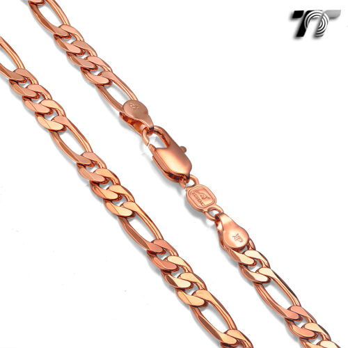 TTstyle Gold Filled Figaro 3+1 Chain Necklace Choose Colour and Size NEW