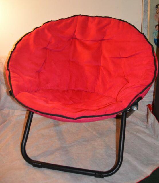 Prime Red Round Chair Folding Saucer Moon Teen Dorm Living Room Den Kids Seat Girl Boy Andrewgaddart Wooden Chair Designs For Living Room Andrewgaddartcom