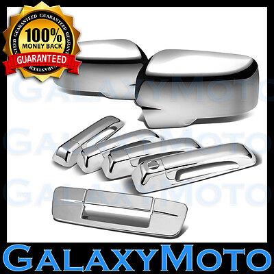 09-15 Dodge Ram Chrome Mirror no Light+4 Door Handle+Tailgate KH+3rd Brake Cover