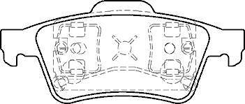 RENAULT laguna 2001 /> Espace Mk2 Arrière Plaquettes de frein fixer de nouvelles