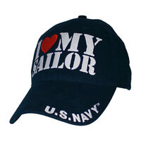 I Love My Sailor Navy Blue Hat / U.s. Navy Baseball Cap 6673